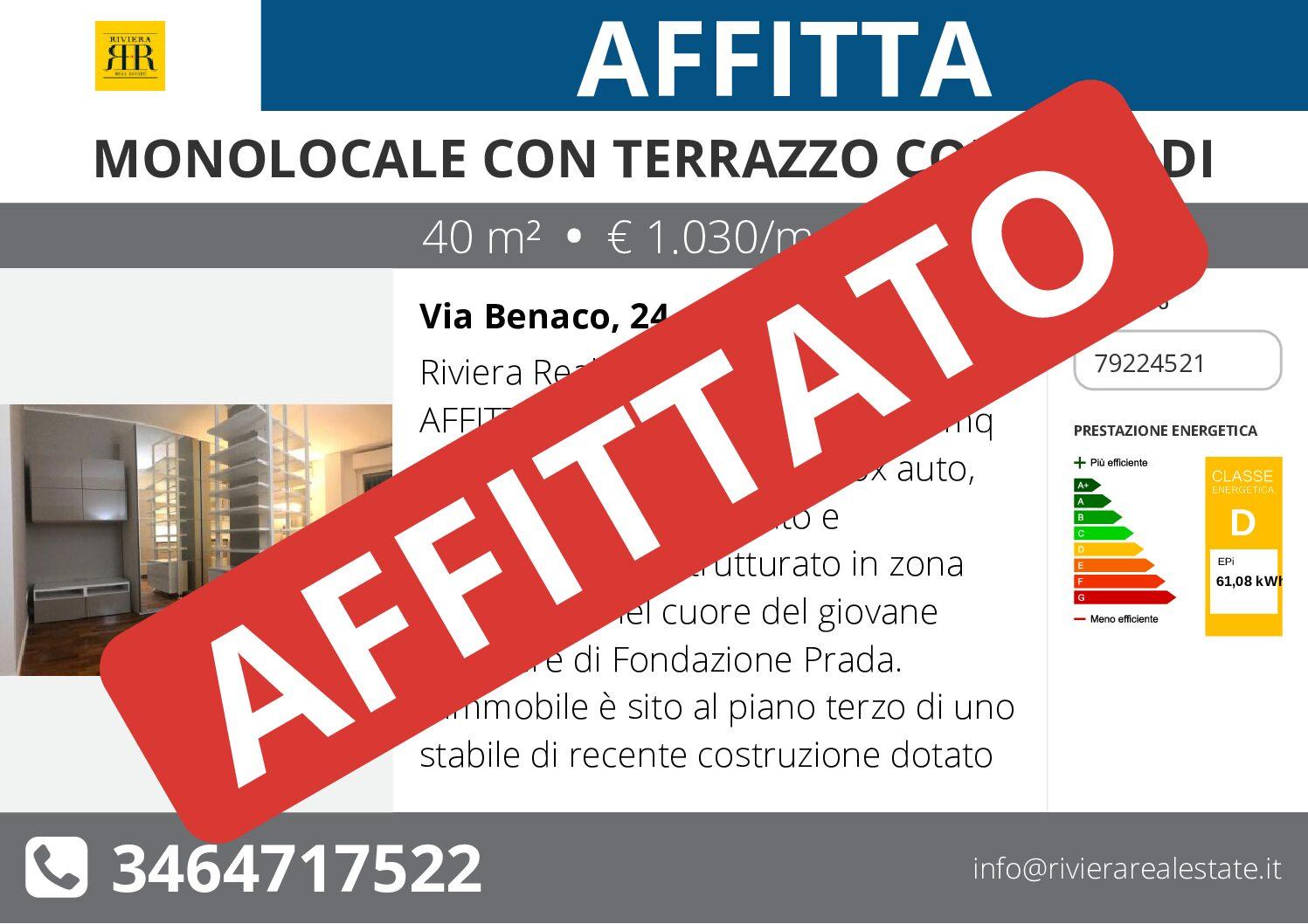 Monocale con terrazzo Corso Lodi